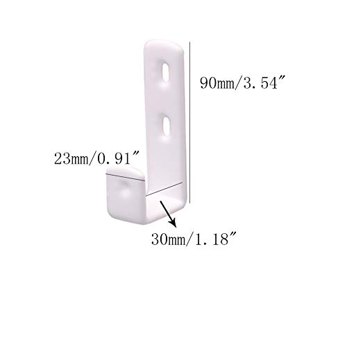 ROOS 7-Shape White PVC Coated Bunk Bed Ladder Hooks Pack of 4