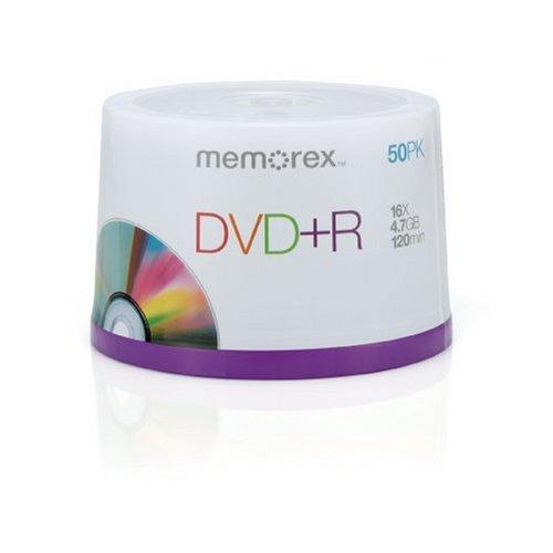 Memorex, 50 Pack DVD+R Spindle