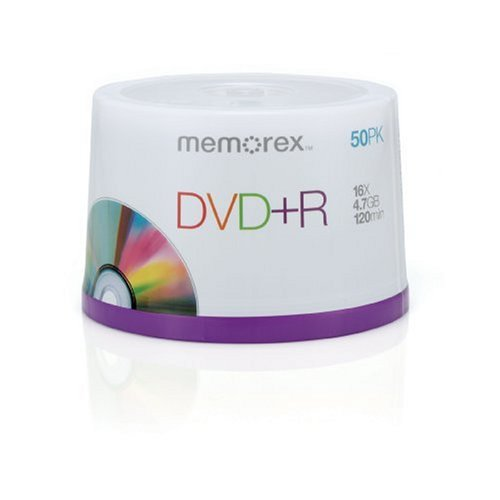 Memorex DVDR 16x 47GB 50 Pack Spindle