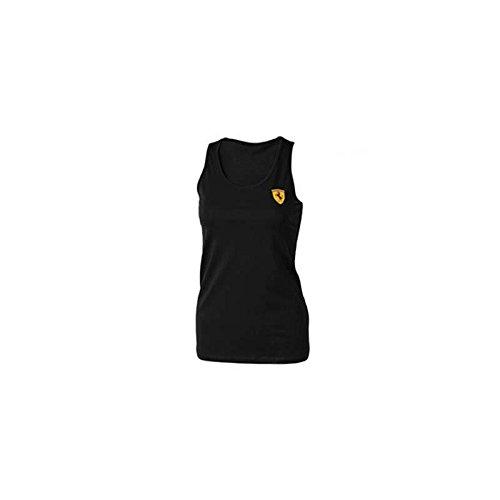 Ferrari dames mouwloos T-shirt, zwart, maat XL