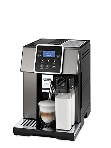 De'Longhi Perfecta Evo Automatische Kaffeemaschine in Bohnen, Espresso, Cappuccino, ESAM420.80.TB, Titan, Schwarz