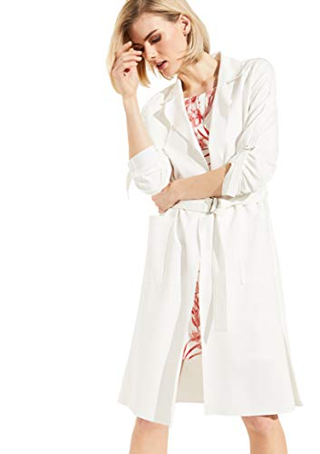comma Damen Jerseymantel im Trench-Style White 38