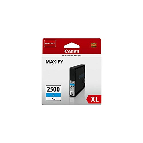 Canon Tintenpatrone PGI-2500 XL C - Cyan 19, 3 ml ORIGINAL für MAXIFY Drucker