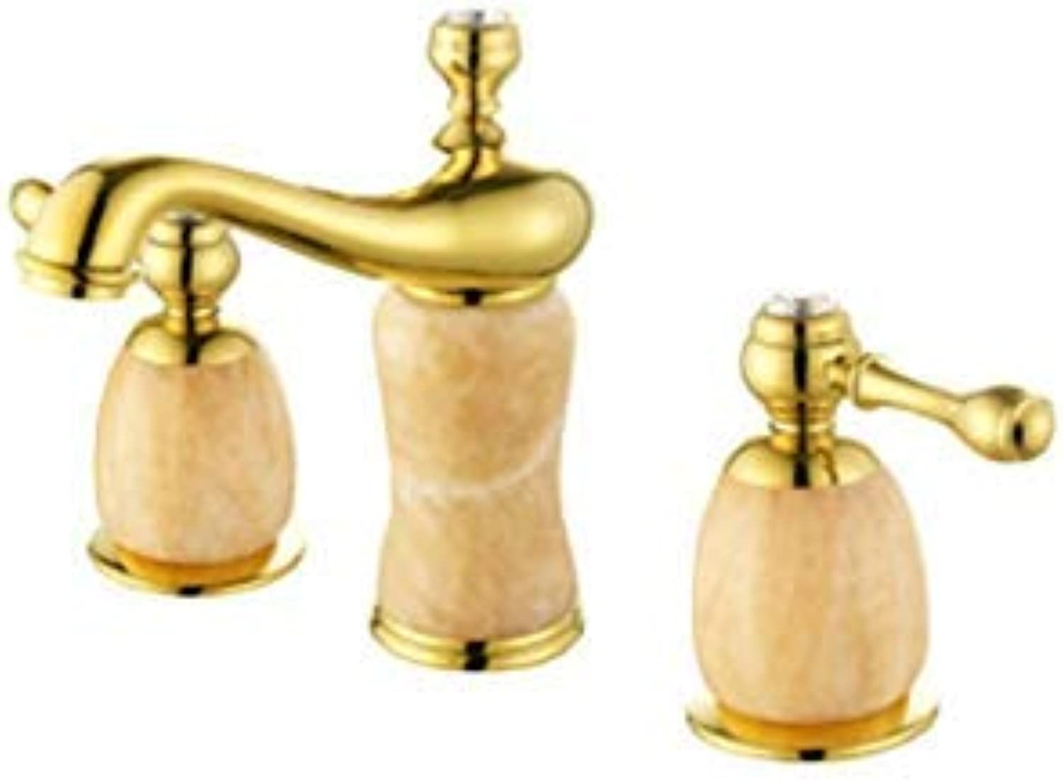 Oudan Taps Faucet Basin Faucet gold-Plated Jade Hot And Cold Split Basins Above Counter Basin Faucet C (color   -, Size   -)