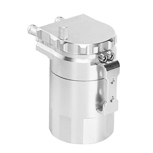 Tanque de retención de aceite del motor, Akozon Depósito de aceite de aluminio Kit de tanque de depósito Accesorios de modificación de la lata de ventilación(Plata)