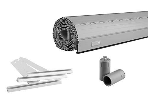 Schellenberg Rolladen Maßanfertigung, PVC Rolladenpanzer, Auswählbar: Breite 50-160 cm, Höhe 100-230 cm, System Mini, Farben Weiß, Grau