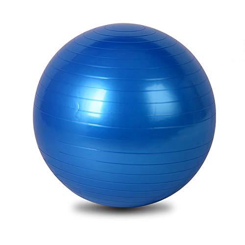 Pelota de Ejercicios - Bola de Yoga Anti-ráfaga Extra Gruesa de 75 cm con Bomba de Mano - Bola de Gimnasia para Fitness, Pilates, Embarazo, Trabajo - múltiples Colores,Azul