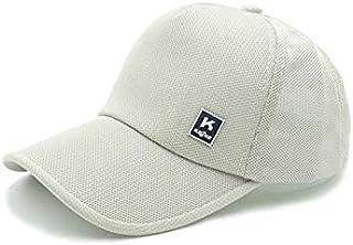 Hat men's summer mesh baseball cap Korean sunscreen sun hat spring and summer outdoor breathable cap White