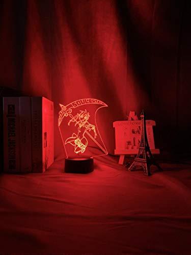DUYAO00 Muttertagsgeschenke Anime Soul Eater Marka Albantu Children's Leader Family Decorating Girl's Room Bedside Table 3d Light Gift Color Changing Night Light geschenke für frauen