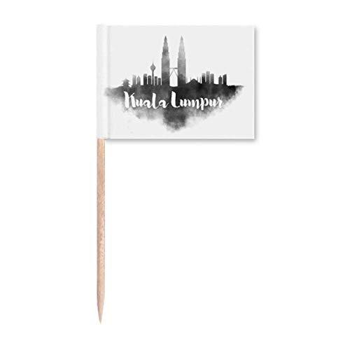Kuala Lumpur Malaysia Wahrzeichen Ink City Zahnstocher Flaggen Marker Topper Party Dekoration