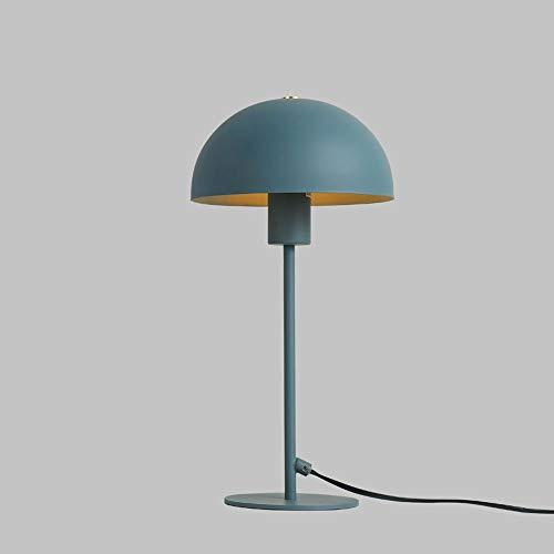 QJL_ANA Minimalista Moderno Creativo Personalidad Sala de Estar Estudio Dormitorio Mesita de Noche Aprender a Leer Lámpara de Mesa Led Macarons (Color : Blue)