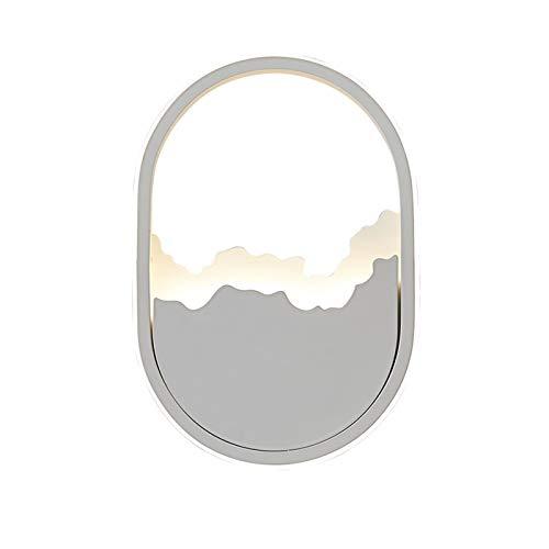YXLMAONY Lámpara de pared de iluminación de la cabeza de un solo cabeza de metal interior, lámpara decorativa del corredor, cuerpo de lámpara de hierro forjado, lámpara de acrílico de alta transparenc