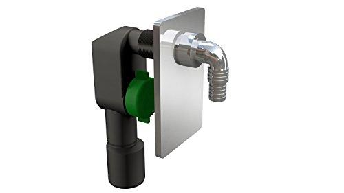 Machines à laver de haute qualité Siphon – Siphon encastré | anti-odeurs pour lave-vaisselle | Raccordement DN40/50 – avec plaque de commande Chromé
