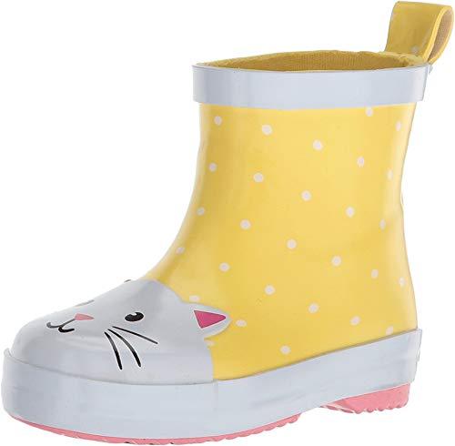 carter's Girls' Rainboot Rain Boot, Yellow, 10 M US Toddler