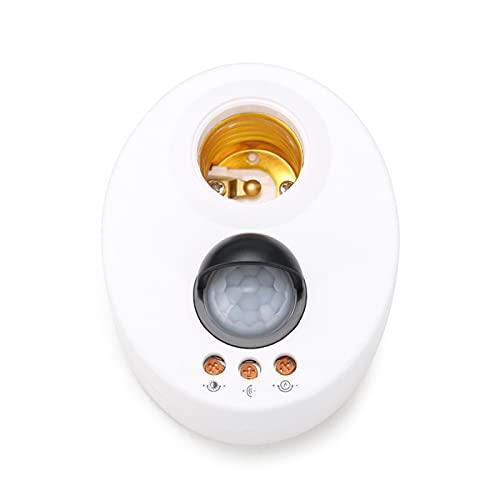 Zsheng E27 Soporte de Infrarrojos Interruptor Motion PIR Sensor Lámpara de Techo Cabezal Ajustable Retraso Luz de Pared Lámpara Soporte Soporte de luz Base de luz