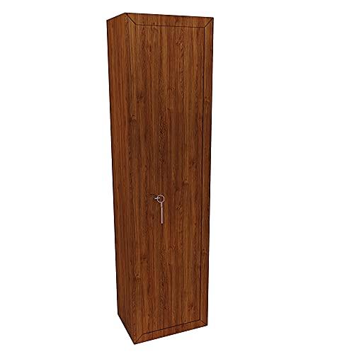 """L'armadio portafucili """"Puebla"""" è costruito in acciaio di alta qualità rifinito in effetto legno, ideale per custodire nella massima sicurezza tutti i tuoi fucili E' dotato di un tesoretto portamunizione che vi eviterà di lasciarle sparse per la casa,..."""
