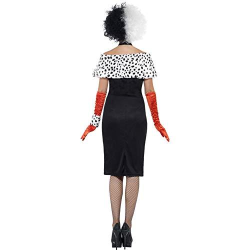 Smiffys, 32806M Damen Böse Madame Kostüm, Kleid mit Handschuhen, Handgelenkmanschette, Halsband und Schulterüberwurf, Größe: 40-42, 32806