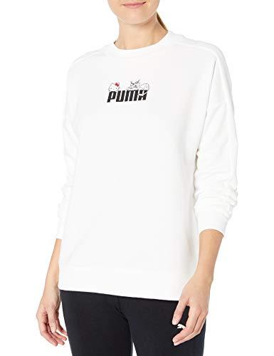 PUMA Damen X Hello Kitty Crewneck Sweatshirt T-Shirt, Weiß, Small
