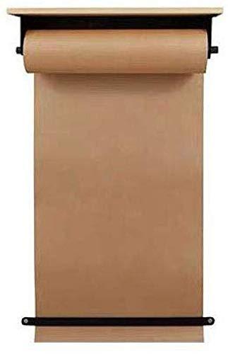 YXIAOL Dispensador Papel Kraft Montado Rollo De Papel Kraft, Tablero para Colgar En La Pared del Estudio, Café De La Pared Cartel Pintado A Mano Rollo De Papel Letrero,70cm