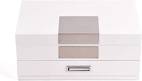 Decoratieve box Sieraden kast sieraden doos 2 lagen vrouwelijke houten ring doos prinses Europese stijl Koreaanse massief houten fluwelen sieraden opbergdoos grote sieraden doos Juwelendoos
