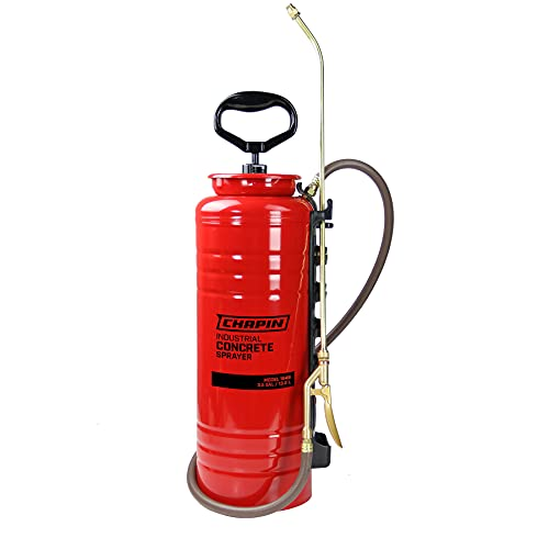 Chapin International 1949 Industrial Open Head Sprayer for Professional Concrete Applications, 3.5 gallons, Red