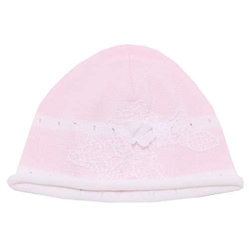 BABY GRAZIELLA 4661X cappello bimba girl white/pink cotton hat