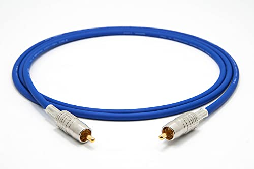 Mogami 2964 High-Definition Digital Koaxial Kabel 75 Ohm S/PDIF | Canare Gold Cinch RCA | HiFi, 1,0 m