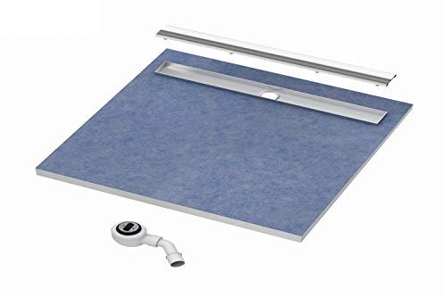 Duschboard 80x80 Duschelement Gefälleplatte zu befliesen befliesbar Duschrinne Stabilsound®Base