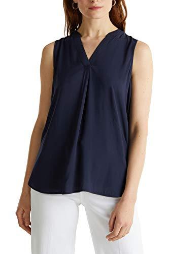 ESPRIT Damen 050EE1F304 Bluse, 400/NAVY, 38