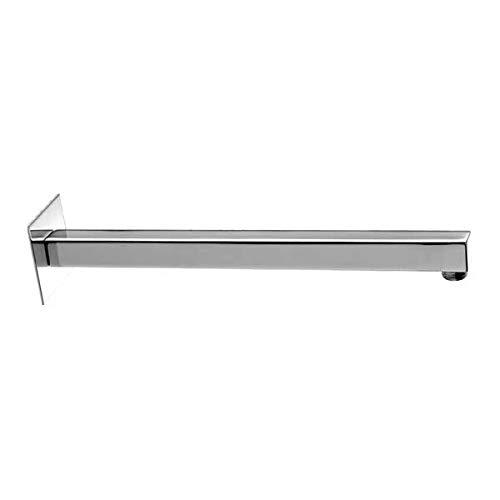 Bossini H69000I000308 - Brazo de ducha de pared cuadrado de 40 cm de longitud cromado