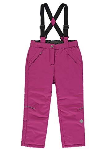 Kanz® Mädchen Schneehose Ski-Hose Wasserdicht , Präzise Farbe:Pink, Größe:128