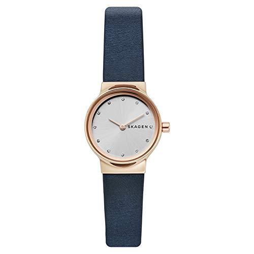 Skagen Damen Analog Quarz Uhr mit Leder Armband SKW2744