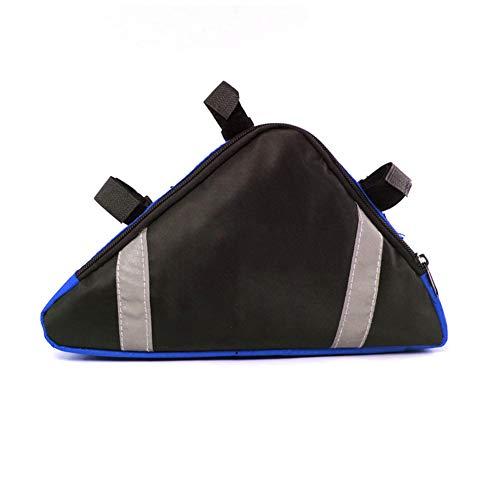 Asudaro – Bolsa para sillín de bicicleta, triángulo, bolsa para cuadro de bicicleta, impermeable, Professional Under The Tube Pack, color azul, tamaño talla única