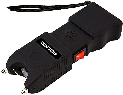POLICE Stun Gun TW10-59 Billion Heavy Duty Rechargeable with Siren Alarm LED Flashlight