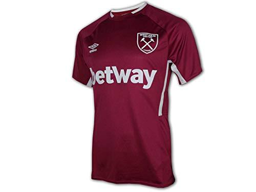 UMBRO Camiseta de fútbol West Ham United Hammers Premier League, talla S, color rojo