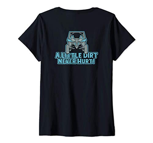 Mujer Mens Womens Four Wheeler Tee, ATV Riding Mudding Camiseta Cuello V