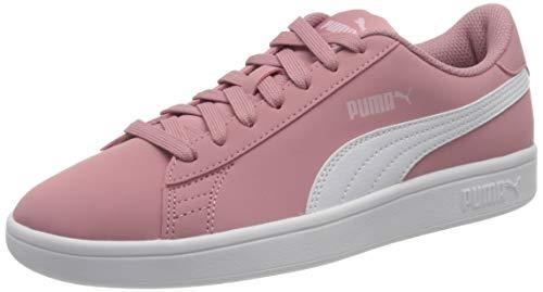 PUMA Smash V2 Buck JR, Zapatillas, Gris (Foxglove White/Pale Pink), 39 EU
