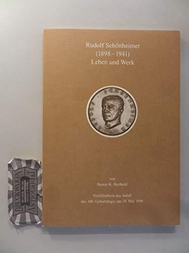 Rudolf Schönheimer (1898-1941) - Leben und Werk