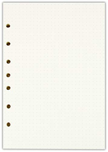 A5 Dotted Filler Paper 7 Hole Punched Planner Refills 5 12 x 8 12 Inches Fits 3 or 7 Ring Binders 100 Sheets