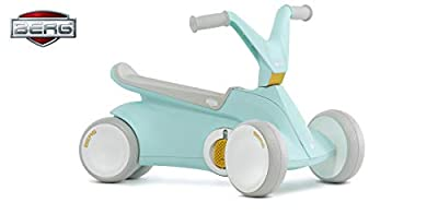 Berg GO² 2in1 Push Car | Ride on with Integrated Folding Pedal System, from Baby Walker to Toddler Ride On Toys, Balance Bike and Pedal Gokart, First Birthday Gift, for Ages 10-30 Months (Mint)