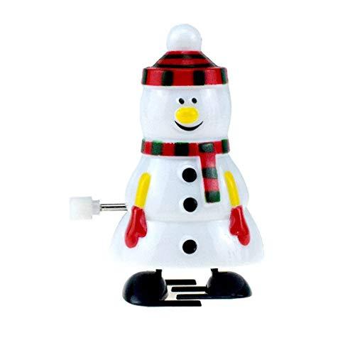 WARMWORD_Navidad Robot mecánico Juguete Monigote de Nieve Regalo Juguete de Cuerda Gracioso Educativo Juguete de Navidad Decorar Regalos Colección Niño Regalo Creativo