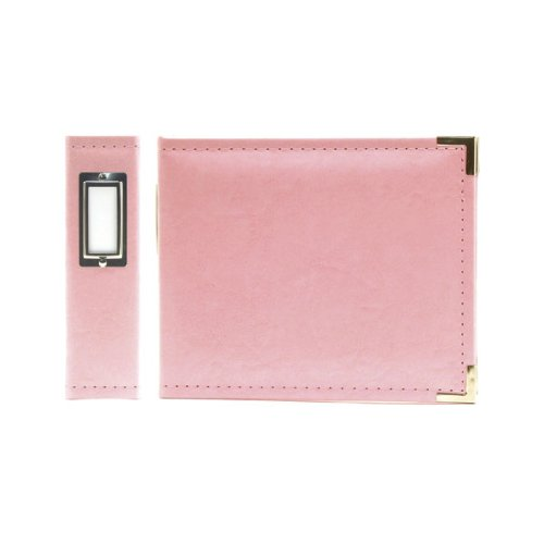 We R Memory Keepers 30893-5 Classic Leather 3-Ring Binder Album, 6 by 6-Inch, Pretty Pink