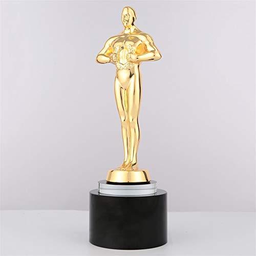 SAIDIYM Trofeo Oscar Creativo Spighe di Grano Trofeo in Metallo Oro Argento Onore Medaglia di Cristallo (Color : Gold)
