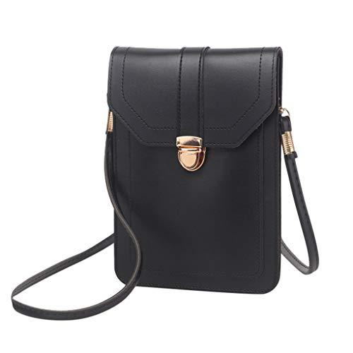 TTLOVE Frauen Brieftasche Touchscreen Mini-Handytasche mit durchsichtiger Ledertasche Brieftasche Tasche Mini Umhängetasche Handy Schultertasche für Damen,Frauen,Mädchen
