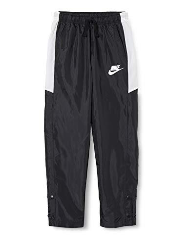 Nike B NSW WOVEN PANT, Pantaloni Sportivi Bambino, black/White/Black/(white), M