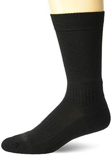 Bridgedale Herren Merino Endurance Socken, leicht, Stiefelhöhe, Schwarz, Größe L