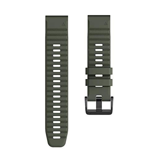 YGGFA Correa de reloj 26 22 20 mm silicona liberación rápida correa para Garmin Fenix 6X Pro reloj Easyfit correa de muñeca para Fenix 6 Pro Watch