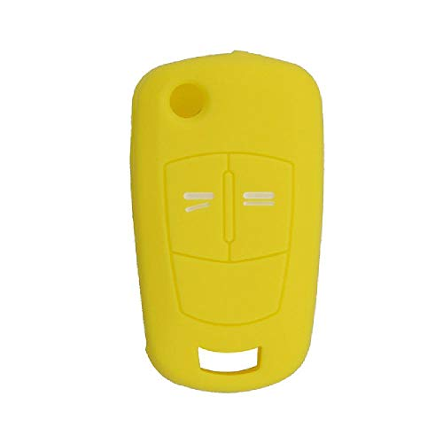Botones TGBV2, Carcasa de Llave de Coche remota de Silicona Suave para Opel Vauxhall Corsa Astra Vectra Signum, Funda de Llave Plegable con Tapa