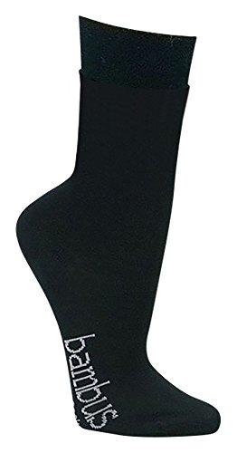 12 Paar superweiche Bambus Socken für Sie und Ihn - Optimaler Tragekomfort - Kein drückendes Gummi - Ideal für Business, Sport und Freizeit (Schwarz, 43-46)
