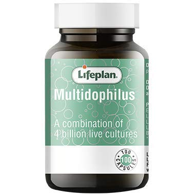 Lifeplan Multidophilus capsules x 100. Multi-dophilus for upper & lower digestive tract. 4 billion friendly bacteria